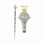Drum-Major-Mace-engraved-trumpet-shap-head-and-gold-color