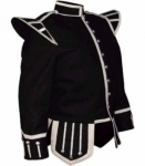 Black-Pipe-Band-Doublet-Silver-Piping-Thistle-Buttons