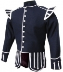 Navy-Blue-Pipe-Band-Doublet-Navy-Blue-100%-Melton-wool-body,