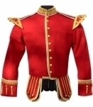 Red-Pipe-Band-Doublet-Gold-Piping-Gold-Thistle-Buttons