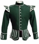 Dark-Green-Highland-Doublet-Silver-Piping