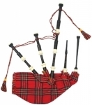 Full-Size-Highland-black-wood-Finish-Bagpipe,-Hand-Made